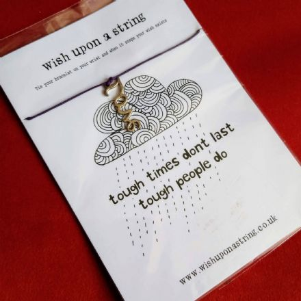 Wish String Bracelet- Love- Tough times card